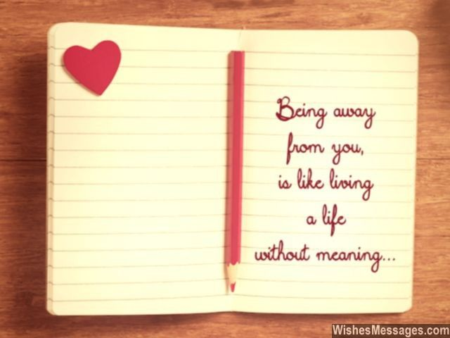 Being away from you, is like living a life without meaning via - goodbye note