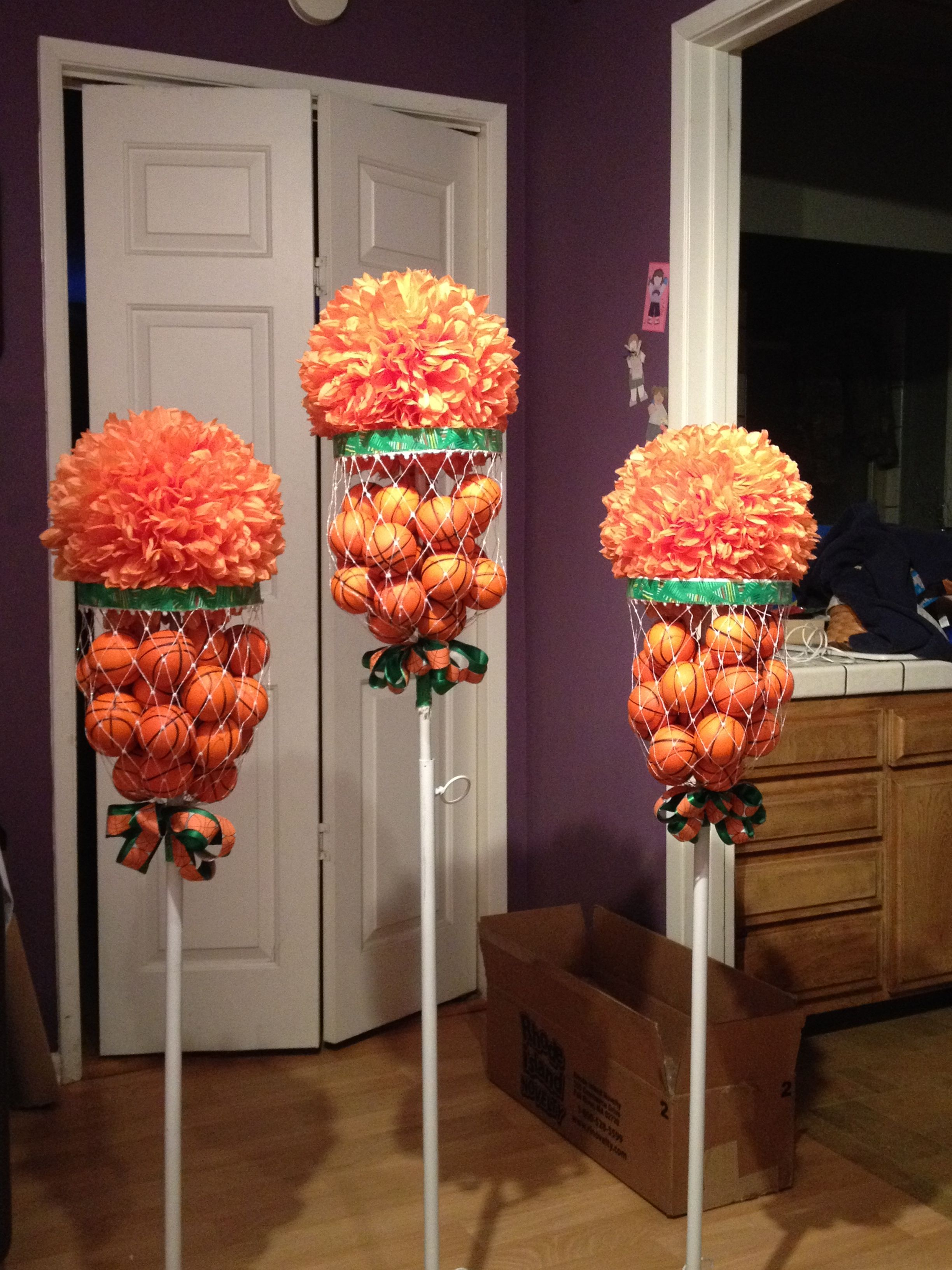 Table Bar Rangements Basketball Flower Arrangements Basketball Bar Mitzvah