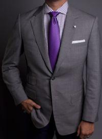 Purple checkered shirt spread collar and purple tie | MEN ...