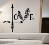 Arrow Feather Love Wall Decal namaste Vinyl Sticker Art ...