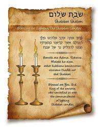 Blessing for Lighting the Shabbat Candles   Shabbat ...