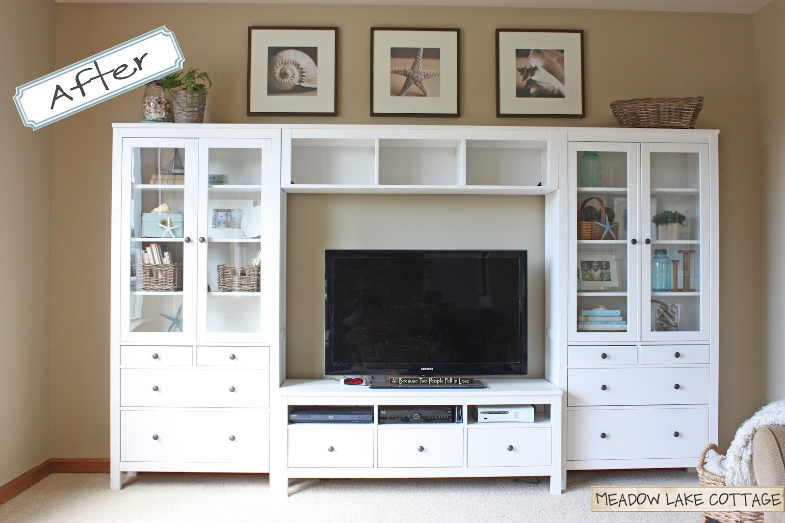 Hemnes Tv Stand Ikea Entertainment Center On Pinterest | White