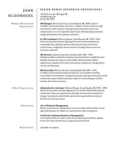 Plain Divider CV Pinterest - plain text resume template
