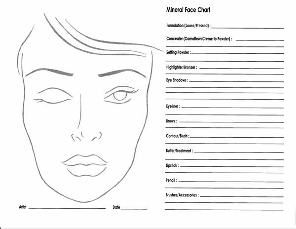 10 Blank Face Chart Templates (Male Face Charts and Female Face - eye chart template