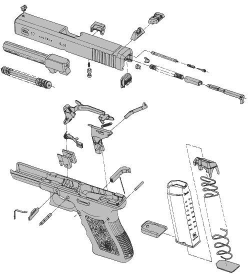 pin glock pistol diagram on pinterest