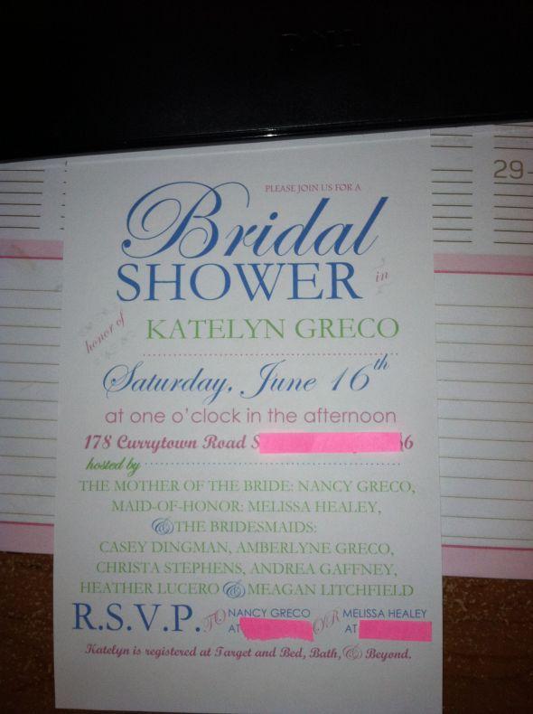 Bridal Shower Invitations  wedding bridal shower green - bridal shower invitation templates for word