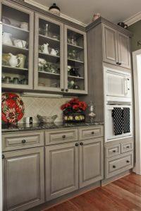 Gray Kitchen With Black Appliances