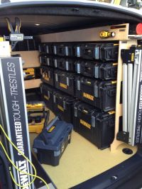 Dewalt Tough Box racking for a van Tools In Action Forum ...