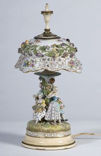 Dresden porcelain lamps on Pinterest | Porcelain, Table ...