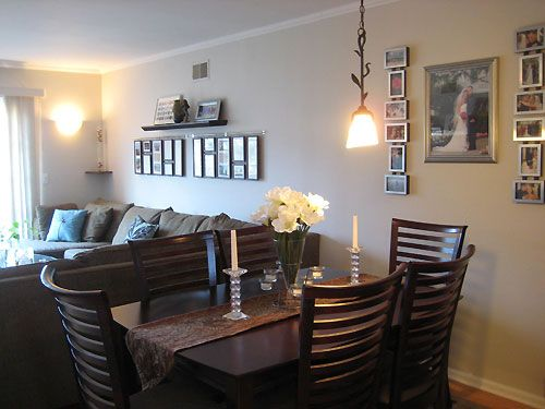 Switch Up Your Dining Room Seating By Adding A Padded Leather - living room and dining room combo