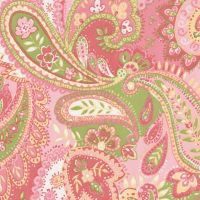 Pink Paisley Fabric by the Yard | Paisley fabric, Carousel ...