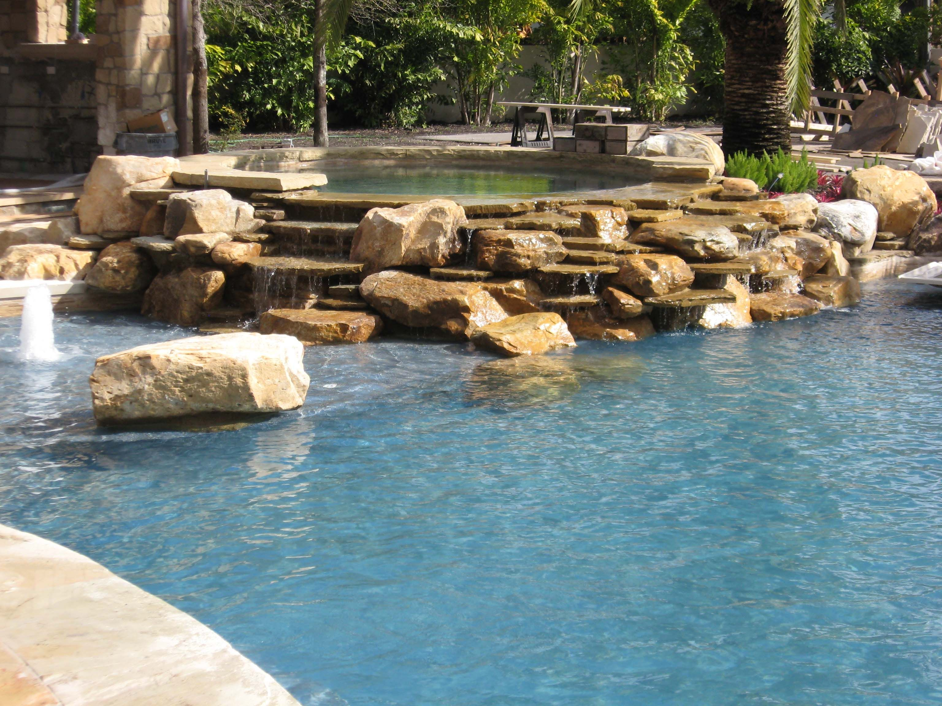 Jacuzzi Swimming Pool Uk Exotic Stone Hot Tubs And Pools Stone Hot Tub Waterfall