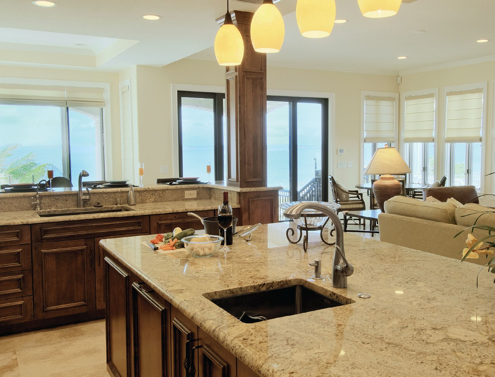 open floor plan kitchen Flooring Ideas For Living Room And Kitchen Open Floor Plan Kitchen