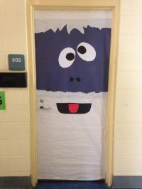Bumble the Abominable Snowman classroom door decoration