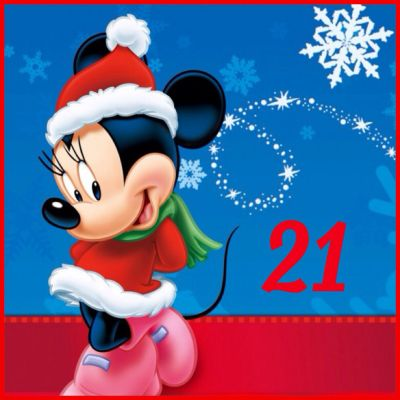 21 Days Until Christmas / Minnie Mouse / Christmas Countdown | Christmas Countdown 2013 ...