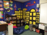 My beautiful reading corner #superheroes #fifthgradefun ...