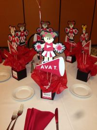 Cheering Centerpieces   Cheering Forever!!   Pinterest ...