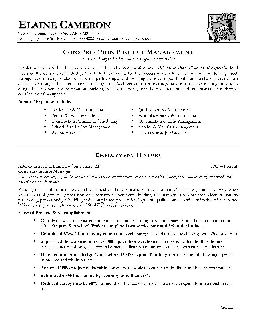 cv building manager pdf