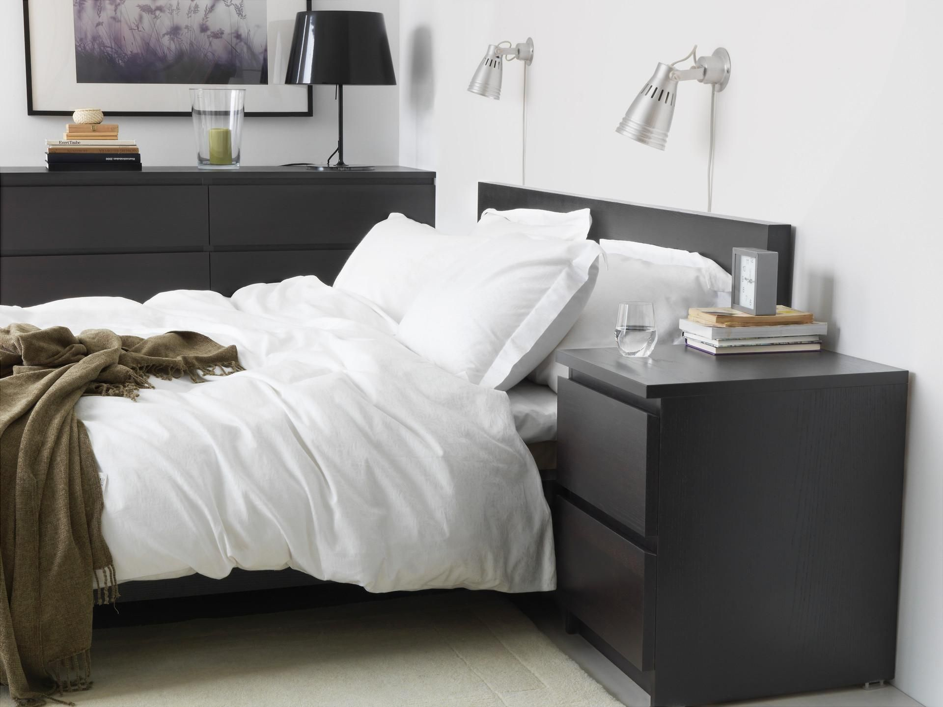 Ikea Schlafzimmer Malm Malm 2-drawer Chest, Black-brown | Ikea Malm, Malm And
