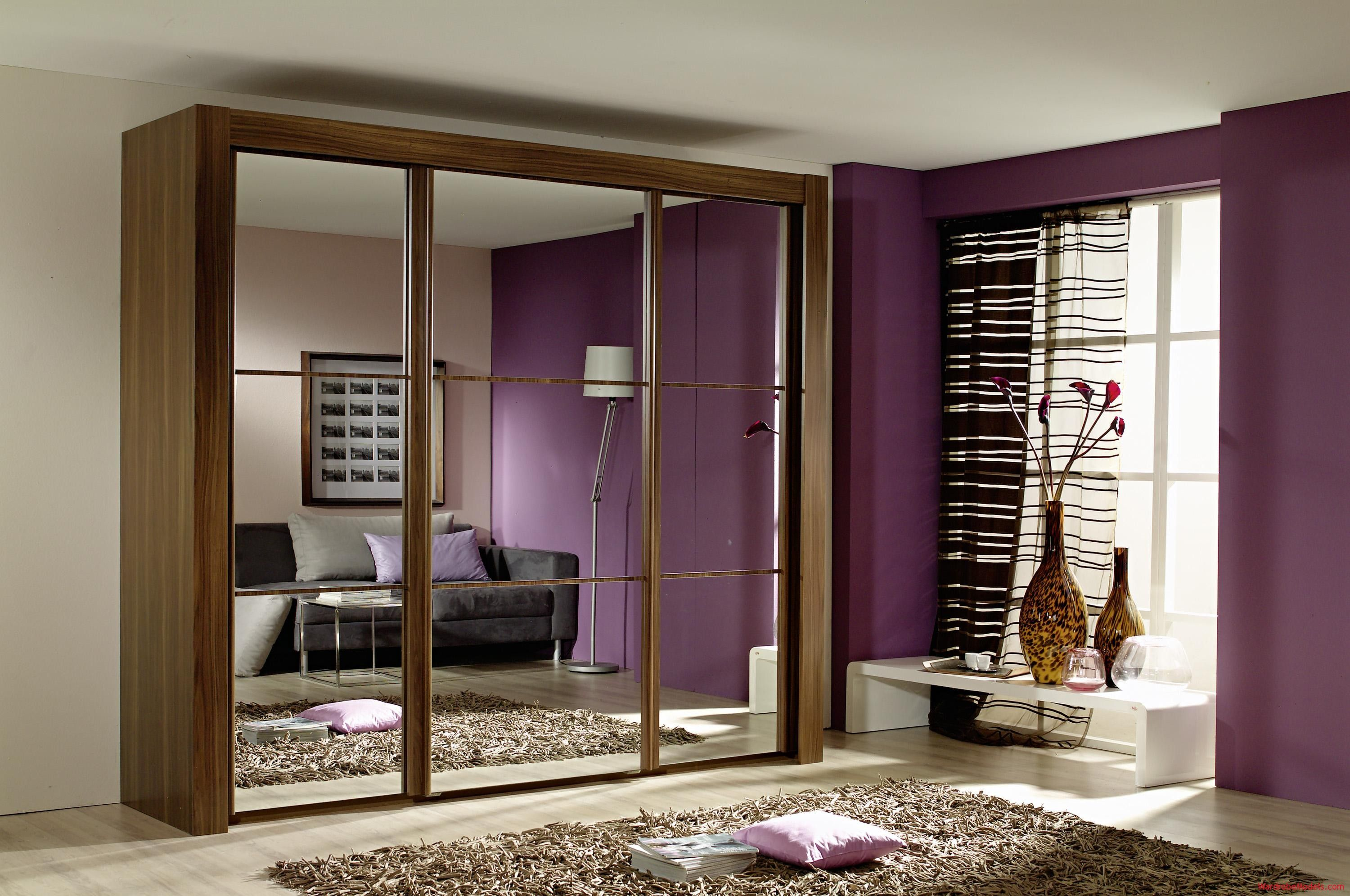 Wardrobes For Small Rooms Amazing Modern Small Bedroom With Brown Laminated Wooden