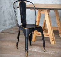 Antique Black Metal Bistro Chair | Metal Bistro Chairs ...