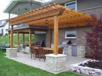 Pergolas are made of vertical posts or pillars that