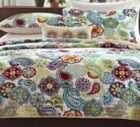 I really LOVE this fun, funky & colorful bedspread ...