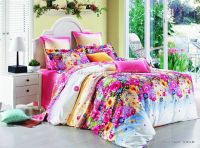 stylish colorful flower floral pattern pink 4pcs full ...