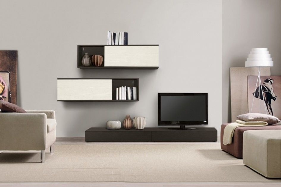 Living Room, Simple Contemporary Wall Cabinets Also Tv Unit Plus - wall units for living rooms