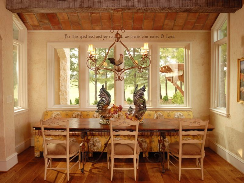 House photos French country kitchens, Country and Breakfast nooks - kitchen table decorating ideas