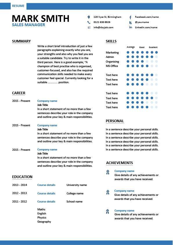 modern cv template 28 free cv resume templates html psd