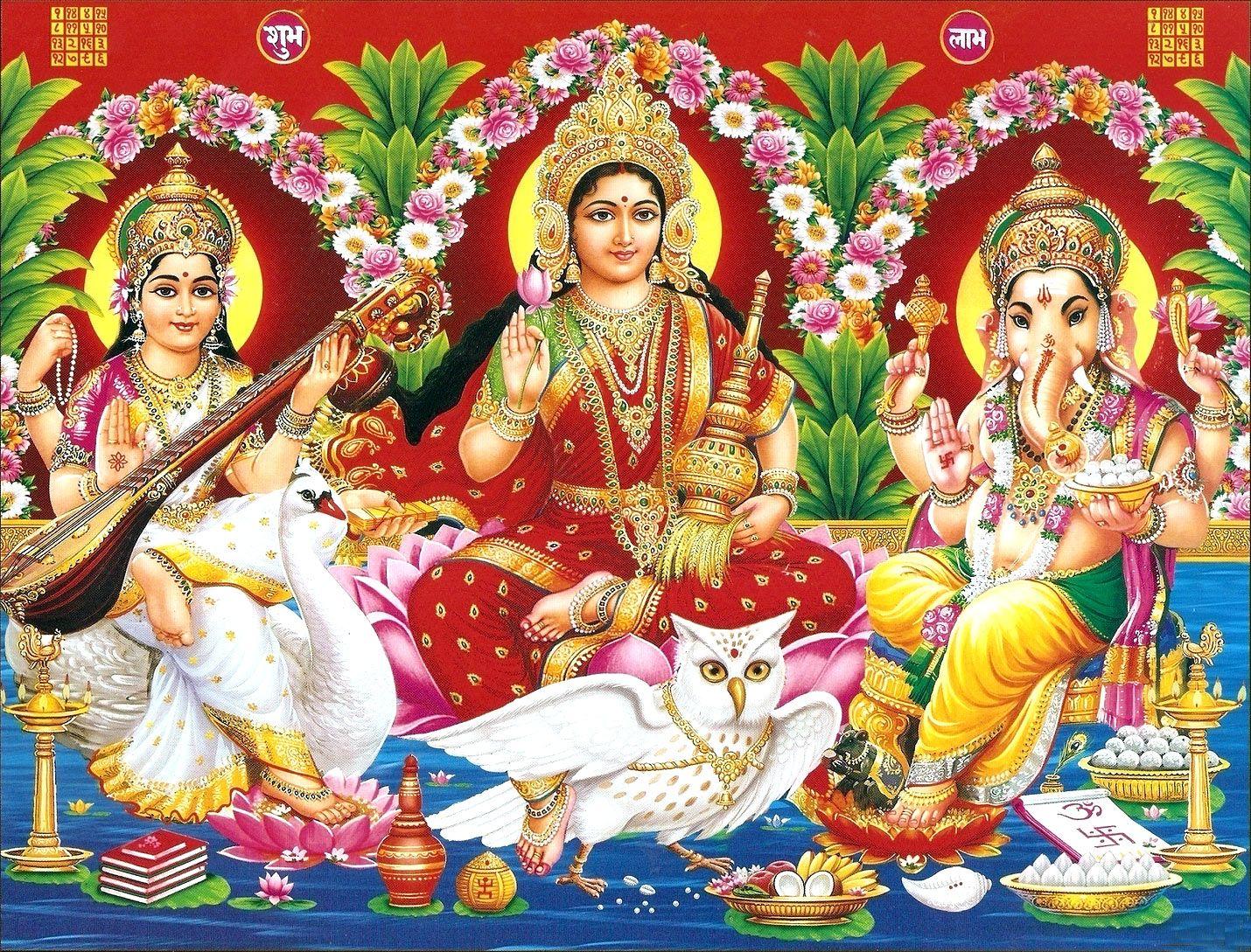 3d 4k Fbb Wallpaper Laxmi Ganesh Saraswati Wallpaper Hd Full Size Download
