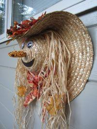 autumn door decorations | Fall Harvest Scarecrow Door ...