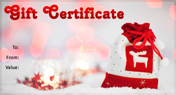 Christmas Gift Certificate Template - 11 Word, PDF Documents - free printable christmas gift certificate