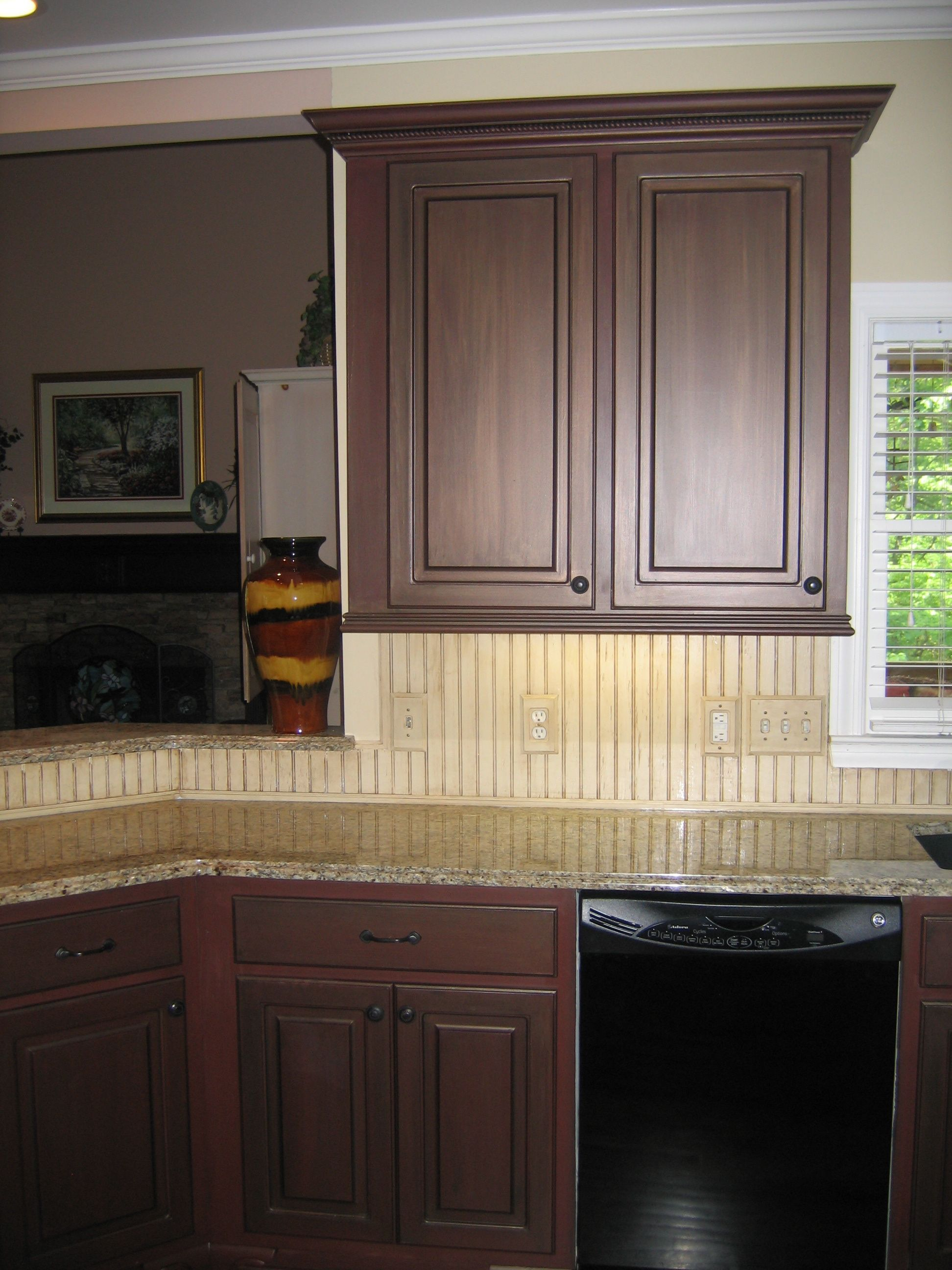 Beaded Glass Kitchen Cabinets Painted Cabinets Beadboard Backsplash Kitchen Concepts