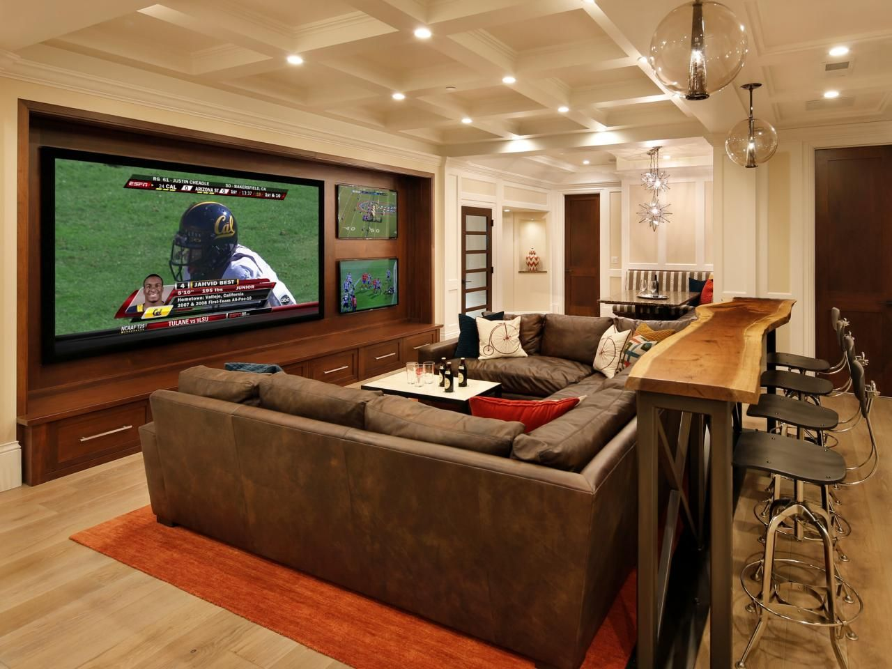 From basement to party central family hub basement sports barbasement