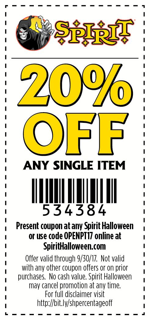 Spirit Halloween stores are creeping up! Use this coupon to save - coupon disclaimer examples