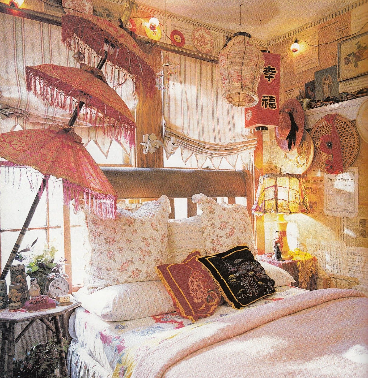 Asian Style Home Decor Bohemian Bedroom Decor Two Gypsy Bohemian Bedrooms That