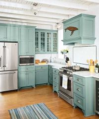 Teal Kitchen Cabinets on Pinterest | Beach Cottage ...