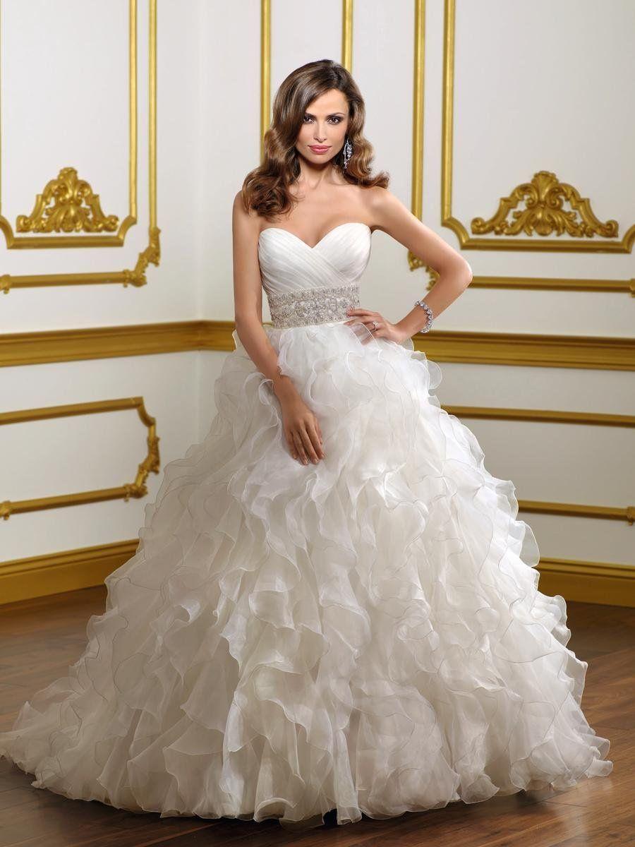 ruffle wedding dress 40 Gorgeous Heavy Wedding Gown Designs