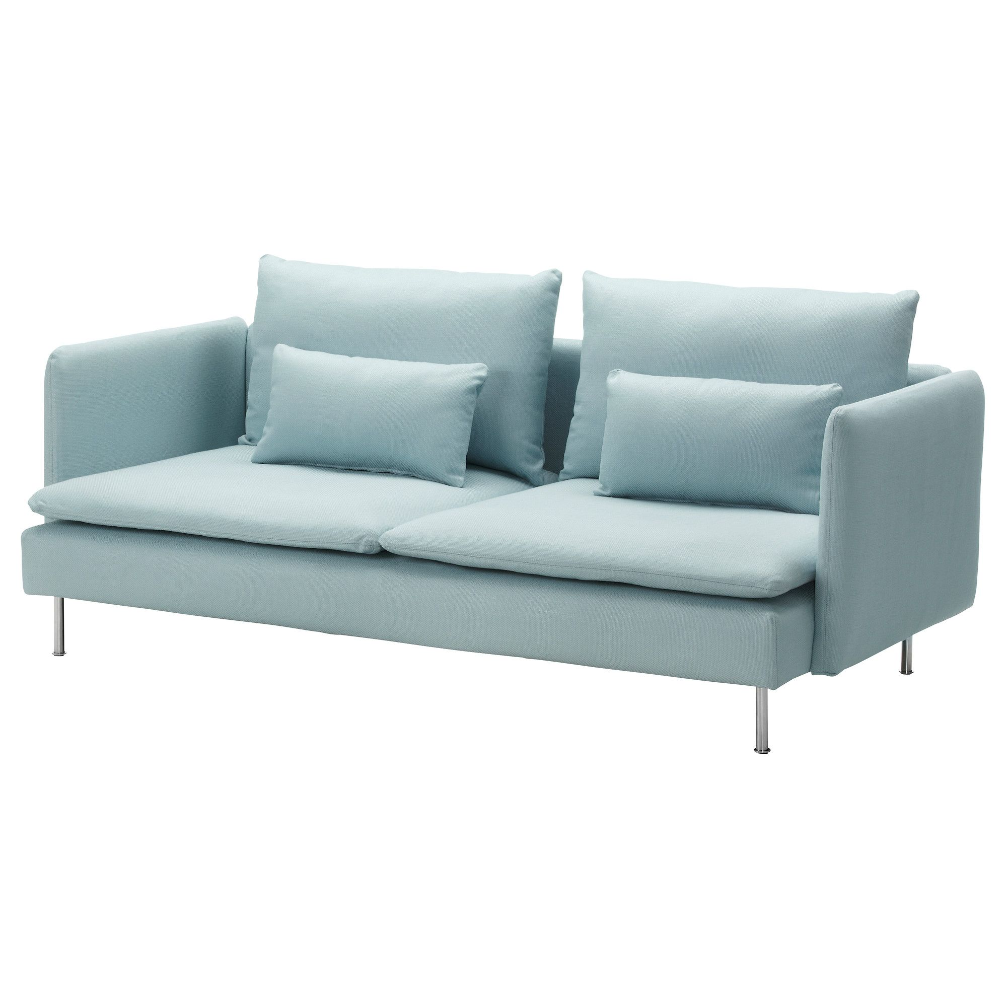 Ikea Sofa 3 SÖderhamn 3 Seat Sofa Samsta Dark Grey Light Turquoise