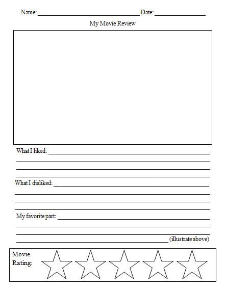 Awesome movie review template worksheet Media Ideas Pinterest - printable book review template
