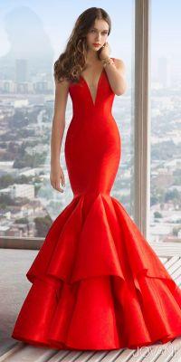 V-Neck Taffeta Mermaid Prom Dress by Jovani | Radiant in ...