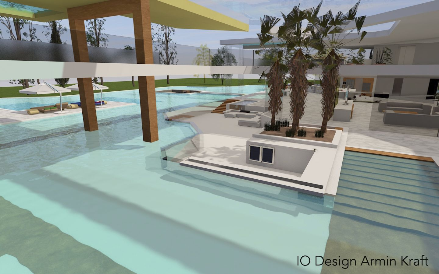 Glas Pool A Glas Of Fine Modern Villa Design Io Design By Armin Kraft
