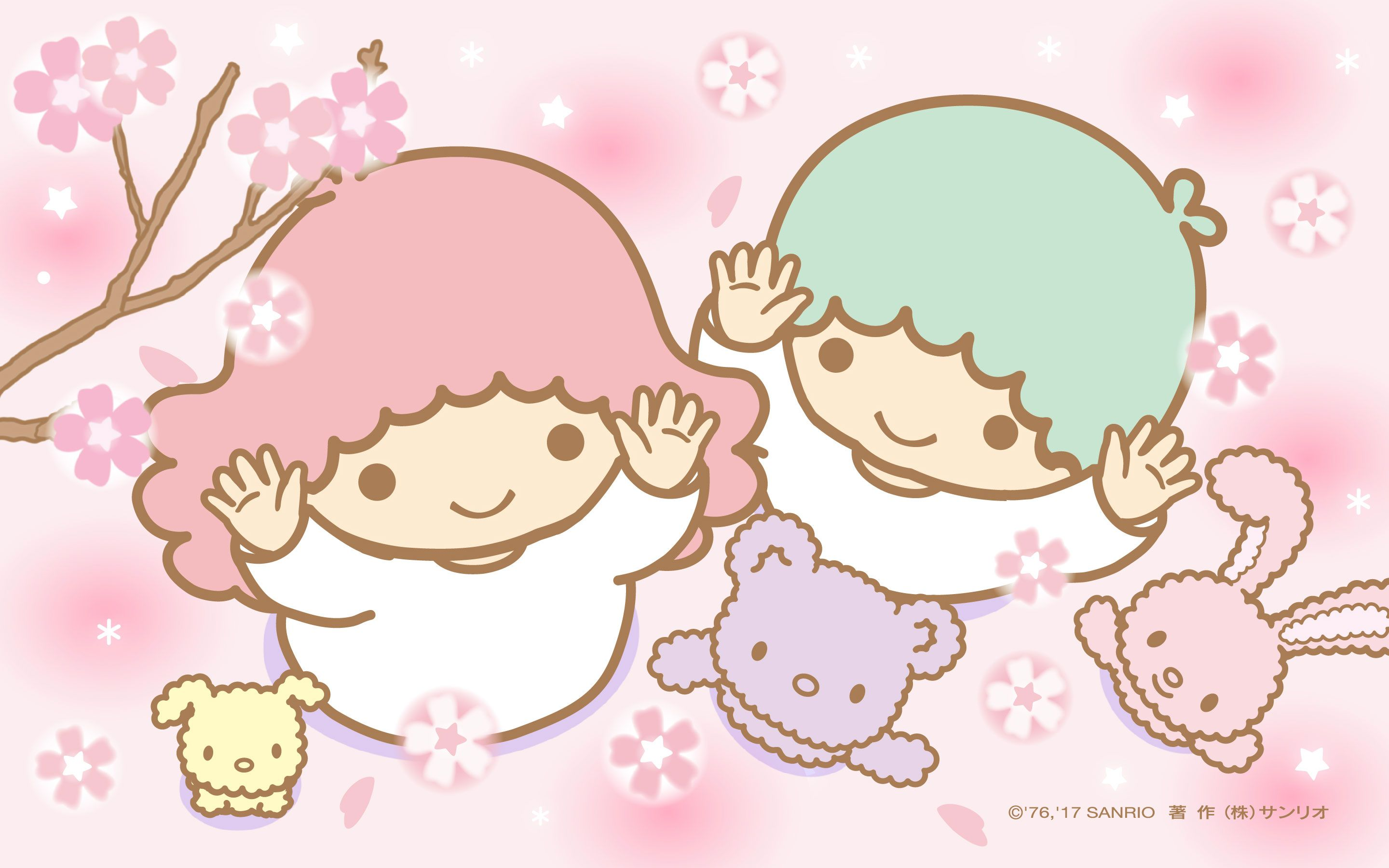 Cute Twins Baby Hd Wallpaper 【android Iphone Pc】little Twin Stars Wallpaper 201703 三月桌布