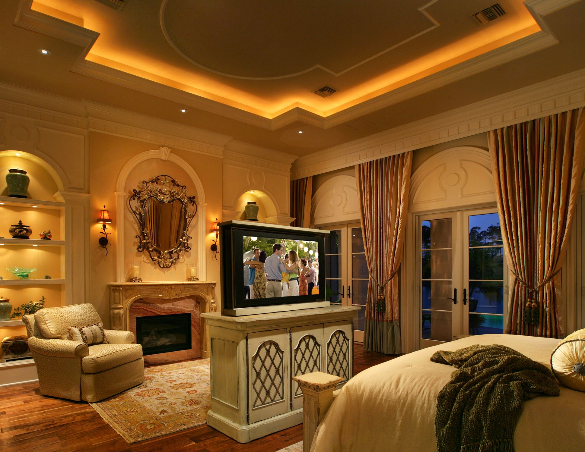 Home Interior Lighting Perimeter Rope Lighting And Panel Molding Detail Emphasize