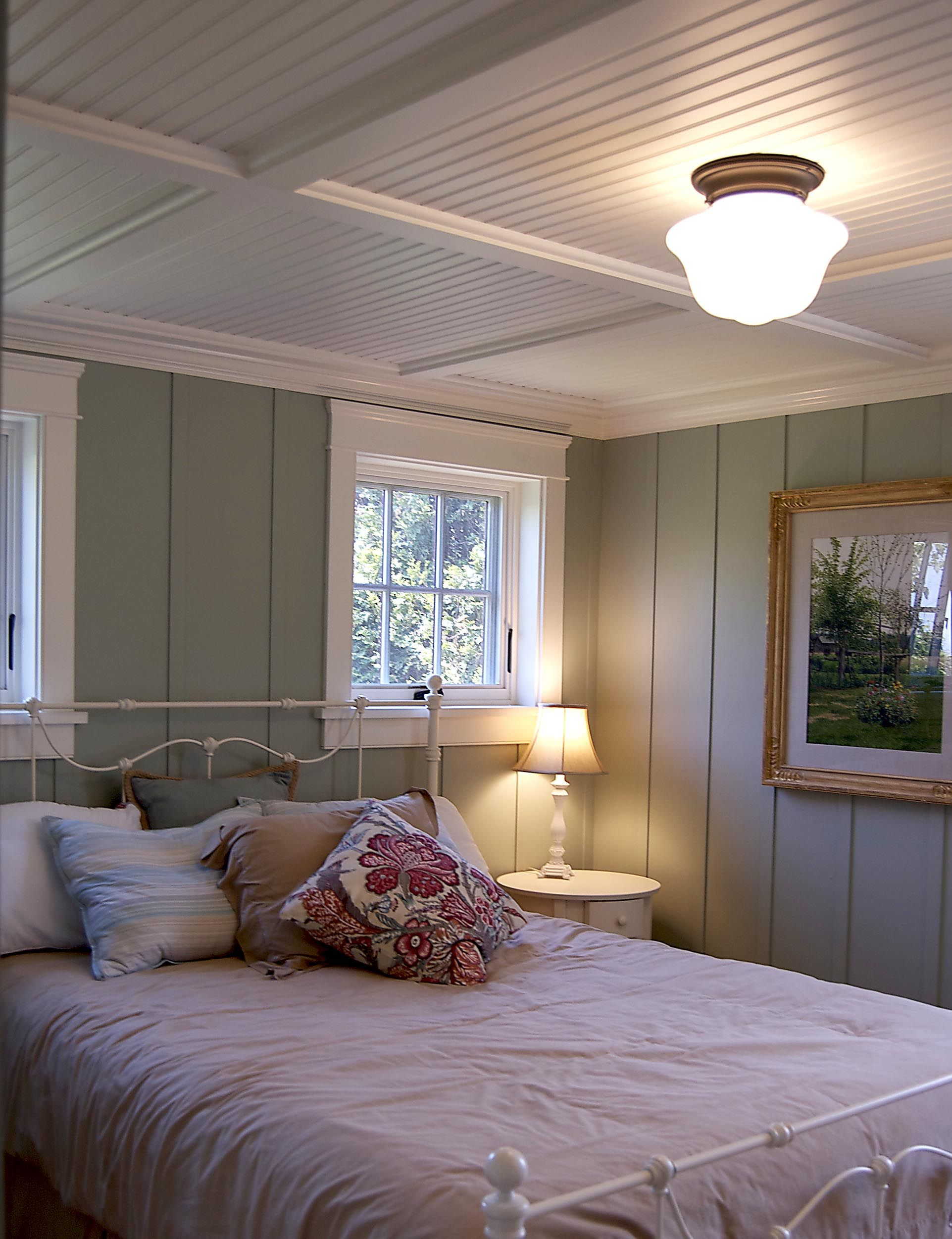 Bedroom Paneling Gulfshoredesign Cottage Bedroom With Floor To Ceiling