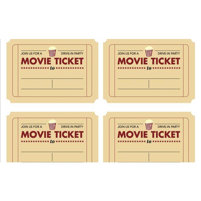 Printable movie ticket invitation from Todayu0027s Parent Kidu0027s - free ticket template printable