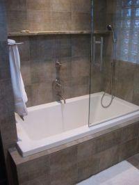 Built in bath with shower | bathroom ideas | Pinterest ...