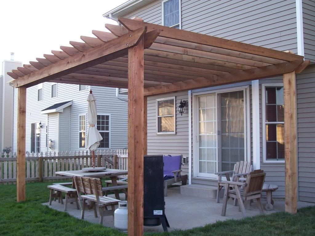 Simple Pergola Attached To House I Sooo Want A Nice Simple Pergola Over The Upper Landing